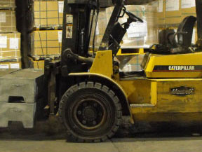 Warehouse forklift